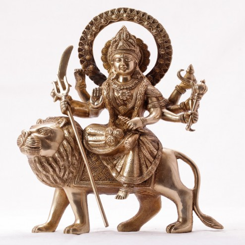 Goddess Durga On A Lion